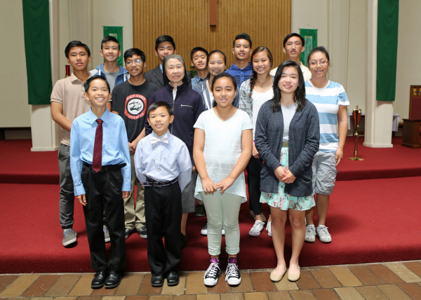 Altar Servers with Sister Esther Ling